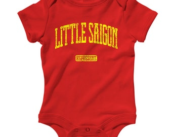 Baby One Piece - Little Saigon Represent - Infant Romper - NB 6m 12m 18m 24m - Baby Shower Gift, Vietnamese Baby, Orange County, California