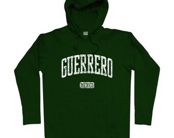 Guerrero Mexico Hoodie - Men S M L XL 2x 3x - Guerrero Hoody, Sweatshirt, Mexican, Chilpancingo, Acapulco, Zihuatanejo, Iguala - 4 Colors