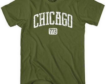 Chicago 773 T-shirt - Men and Unisex - XS S M L XL 2x 3x 4x - Chicago Tee, Windy City, Illinois - 4 Colors