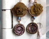 Antique button earrings,...
