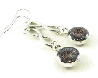 Orgone Energy Infinity Dangle Earrings with Amethyst Gemstone - Drop Earrings - Gemstone Earrings - Orgone Energy Jewelry - Artisan Jewelry