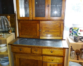 Antique Hoosier, Kitchen Cabinet, Cupboard, Baking Pantry