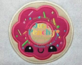 Kawaii Shoppie Doughnut Machine Embroidery Applique Design Buy 2 for 4! Use Coupon Code 50OFF