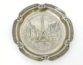 French art deco Paris souvenir pin tray, Eiffel tower