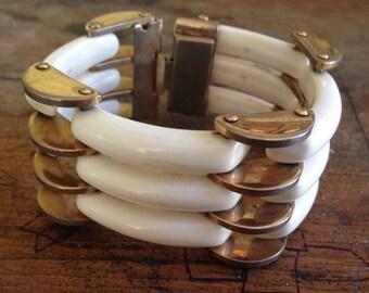 Gold and Porcelain Bracelet