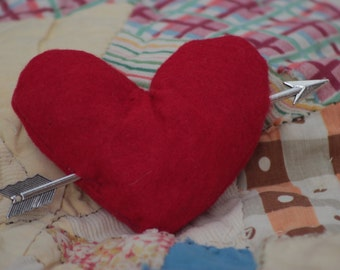 plush cupid heart