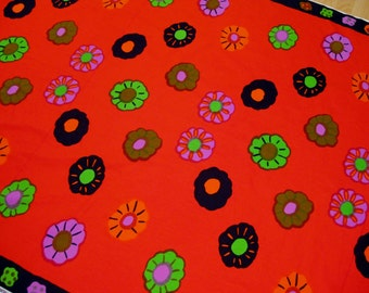 Vintage 70s Marimekko Katsuji Wakisaka NEKKU Suomi Finland Fabric Panel 2.25 yds