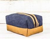 Dopp Kit | Selvedge Denim + Honey