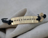 Gold Medical Alert Bracelet - One Line - Customize with your personal information