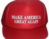 Kid's Make America Great Again Red  Mesh Trucker Hat Cap Snapback Trump