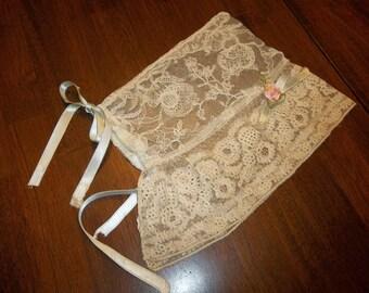 Antique Lace Bonnett...Bears...Dolls...VICTORIAN ORIGINAL...Free Shipping