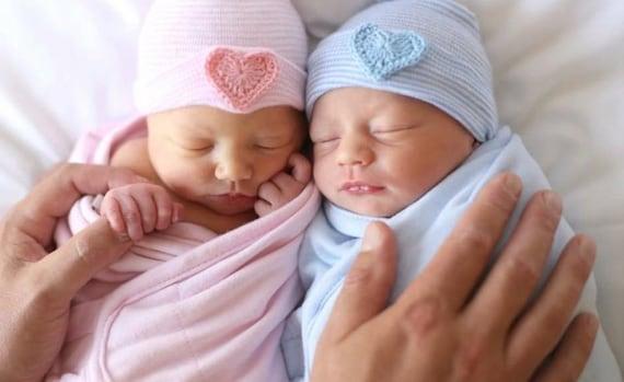 TWIN NEWBORN HOSPITAL hat newborn hospital hat twin baby
