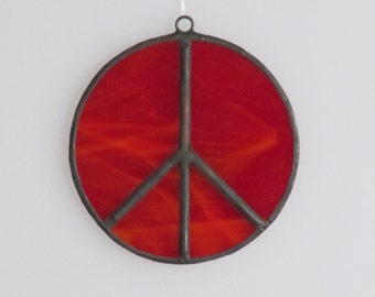 Stained Glass Peace Sign Suncatcher (small)