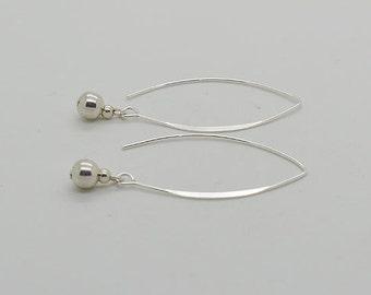 Sterling Silver Earrings Ball 01