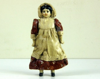 Vintage Ike & Sandy Spillman Homestead Doll Ornament, 1979