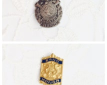 Lot of Two BAND Pins, Vintage Gold & Silver Tone,  Enamel, Collectors Pin, Item No. B290
