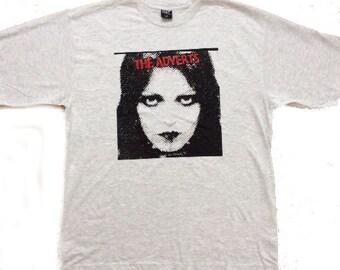 "The Adverts - Punk T-Shirt - Gaye Advert - British Punk Tee-Light Gray - Unisex- Large 40"" - XL 42"""