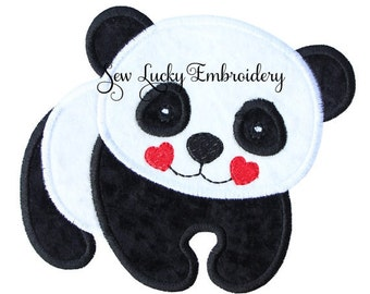Cute Panda Applique Embroidered Patch , Sew or Iron on