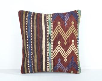 Kilim pillow cover, kp1746, Kilim Pillow, Turkish Pillow, Kilim Cushions, Kilim, Moroccan Pillow, Bohemian Pillow, Turkish Kilim