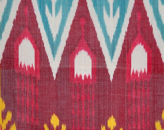 Sale! Ikat Fabric, Ikat Fabric by the yard, Hand Woven Fabric , F-A436