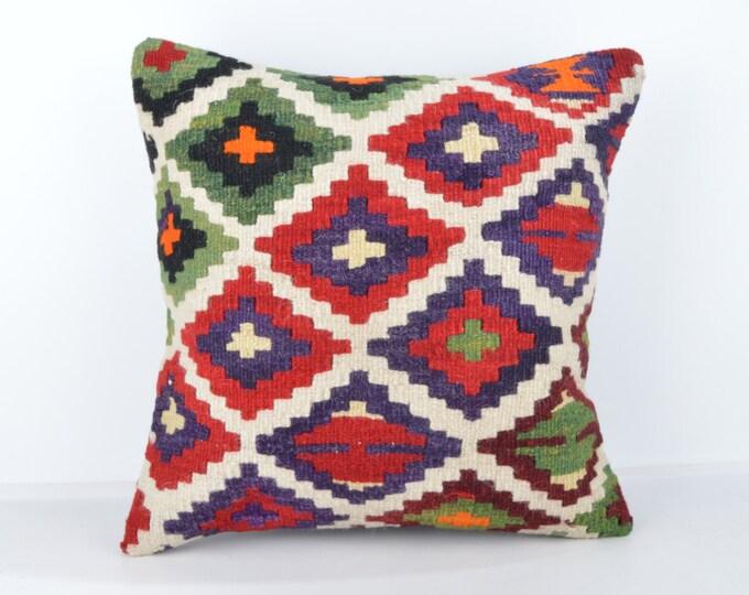 Wool Pillow, Kilim Pillow, KP1076,  Decorative Pillows, Designer Pillows,  Bohemian Decor, Bohemian Pillow, Accent Pillows, Throw Pillows