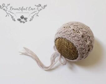Knitting Pattern - Magnolia Newborn Bonnet - Newborn Photography Prop