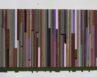 Reclaimed Wood Wall Art Sculpture, Painting ,Rustic-Abstract Large Wall Art,Purple, Trending