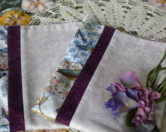 Handmade Set of a  Pillowcase  Pair made  with Vintage Post Card Bird Fabric new never used ~ Great set for the Bird Vintage Bird Lover