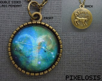 Aries Zodiac Necklace, Aries Constellation Necklace, Zodiac Symbol, Astrology Jewelry, March April Birthday Gift, Star Sign, Zodiac Jewelry