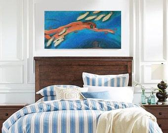 "FREE SHIP Beach Decor Original Oil Painting ""Nothing but dream"" by B. Kravhenko"
