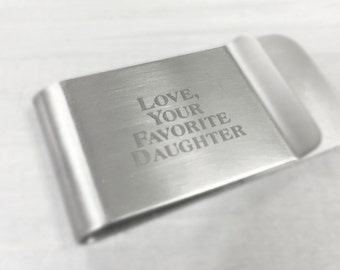 Custom Money Clip, Personalized Money Clip, Engraved Money Clip, Monogrammed Money Clip, Gift for Him, Father's Day Gift