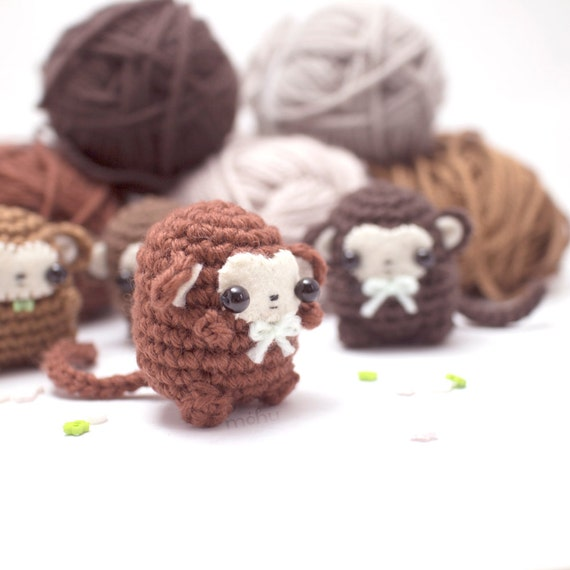 how to make a crochet monkey