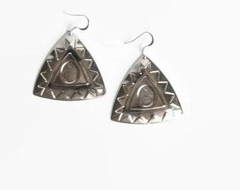 Silver Earrings Boho Earrings