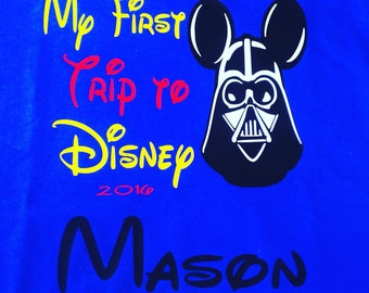 My First Disney Trip Shirt Disney Shirt Star Wars Disney Shirt Darth Vader Shirt