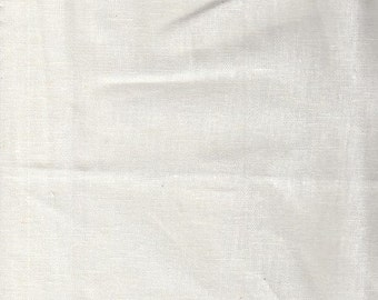 White Lightweight Linen Fabric-16 Yards Wholesale By the Bolt