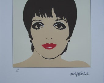 Andy Warhol Lithograph Liza Minnelli limited authenticated edition