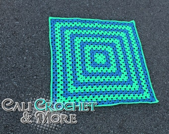 Crochet Square Baby Afghan