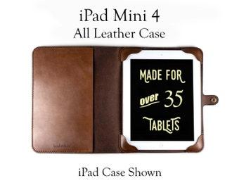 iPad Mini 4 Case, All Leather - No Plastic - Free Inscription