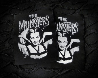 The Munsters Lily Goth Punk Horror Patch - Black, White