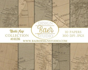 50% off:Brown Map Digital Paper, Tan Map Digital Paper, Vintage Map Digital Paper, Old World Map Digital, Antique Map Background Paper