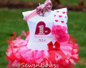 Girl 1st Valentine- Baby 1st Valentine's Day- Baby first Valentine's Day- First Valentine Day- Baby Valentine- Girl Valentine- Valentine tu