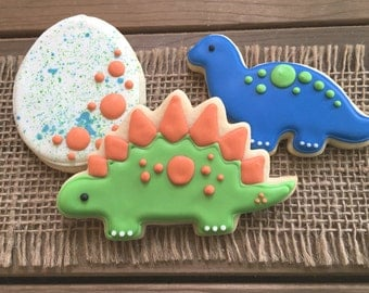 Dinosaur Cookies // Dinosaur Party Favors // Dinosaur Sugar Cookies