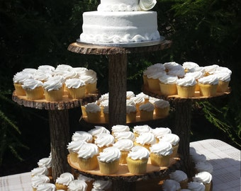 Rustic Cupcake Stand, Log Cupcake Stand, Tree Cupcake Stand, Rustic Cake Stand, Rustic Wedding, Rustic Cake Stand, Wood Cupcake Stand