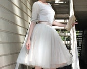 Ivory, off white, cream  tulle skirt, tutu skirt,made to your size