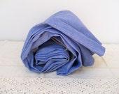 2.5 yd Light Blue FADED DENIM FABRIC Cotton Stonewash Sew Craft Quilt 36x97 Vintage