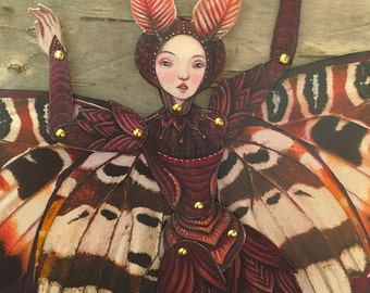 Moth Fairy Jointed Paper Doll Kit