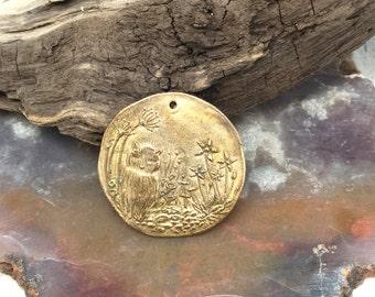 Bronze Wandering Creature Coin Pendant