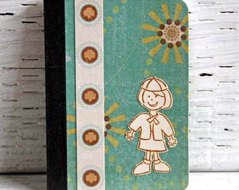 Brownie Girl Scout Mini Journal, Altered Composition Book, Pocket Notebook, Troop Adventures