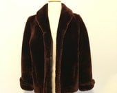 Vintage hudsons genuine chocolate brown fur jacket small