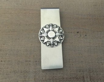 Silver Compass Money Clip, Groomsmen Gifts, Gift For Him